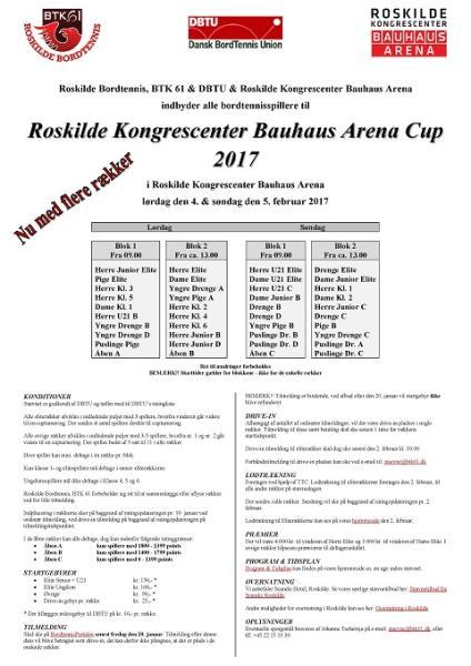 Roskilde Kongrescenter Bauhaus Arena Cup 2017